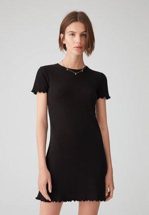 Pletené šaty - metallic black