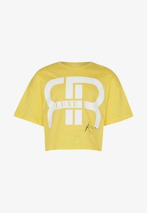 SLOGAN - Print T-shirt - yellow
