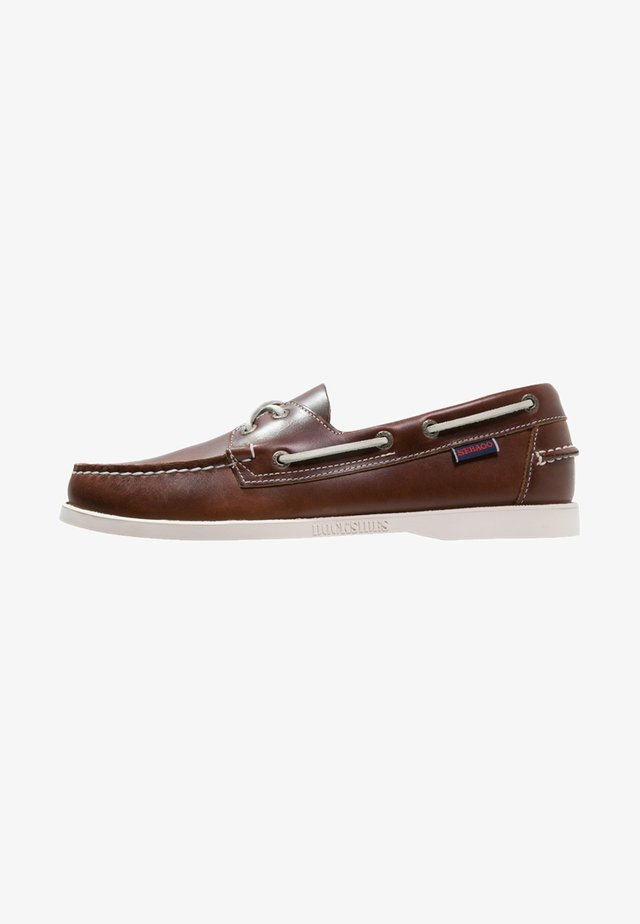 DOCKSIDES PORTLAND  - Boat shoes - brown/white