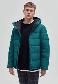 PULL&BEAR - Winter jacket - dark green - 0