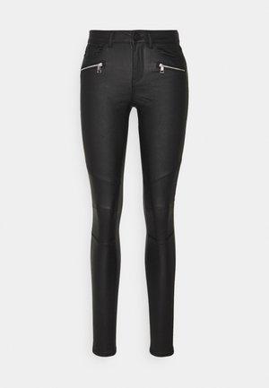ONLANNE MID COATED - Trousers - black