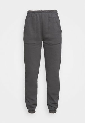 COZY POCKET PANTS - Tracksuit bottoms - off-black