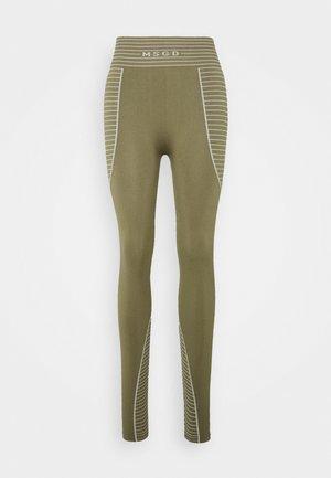 SEAMLESS HIGH WAISTED - Leggings - khaki