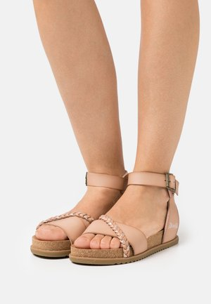 VEGAN FALTEN - Sandals - blush/multicolor