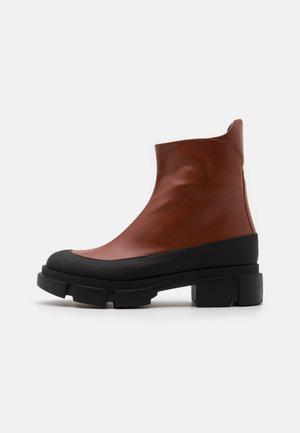 HOP - Platform ankle boots - brown