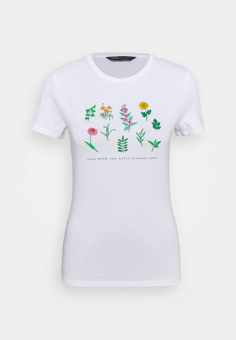 Marks & Spencer London - FITTED - Print T-shirt - white