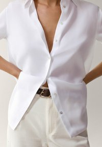 Massimo Dutti - UNIFARBENES - Button-down blouse - white - 4