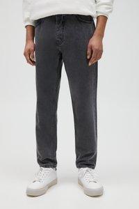 PULL&BEAR - Straight leg jeans - mottled light grey - 0