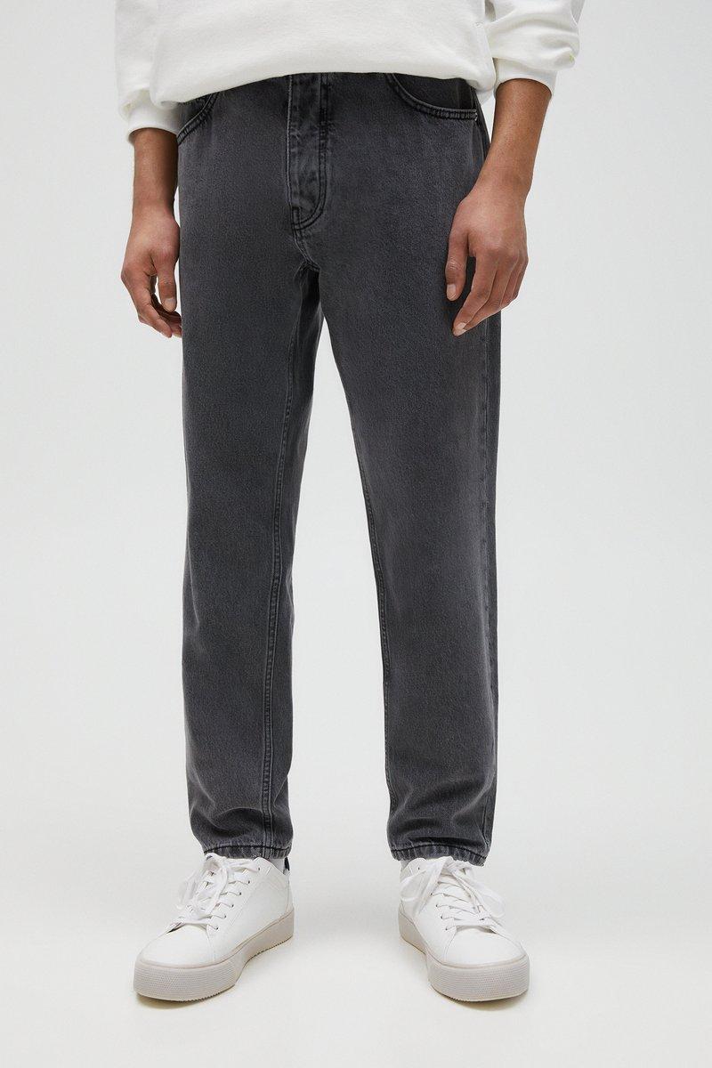 PULL&BEAR - Straight leg jeans - mottled light grey