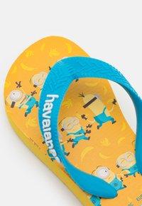 Havaianas - MINIONS UNISEX - T-bar sandals - gold yellow - 5