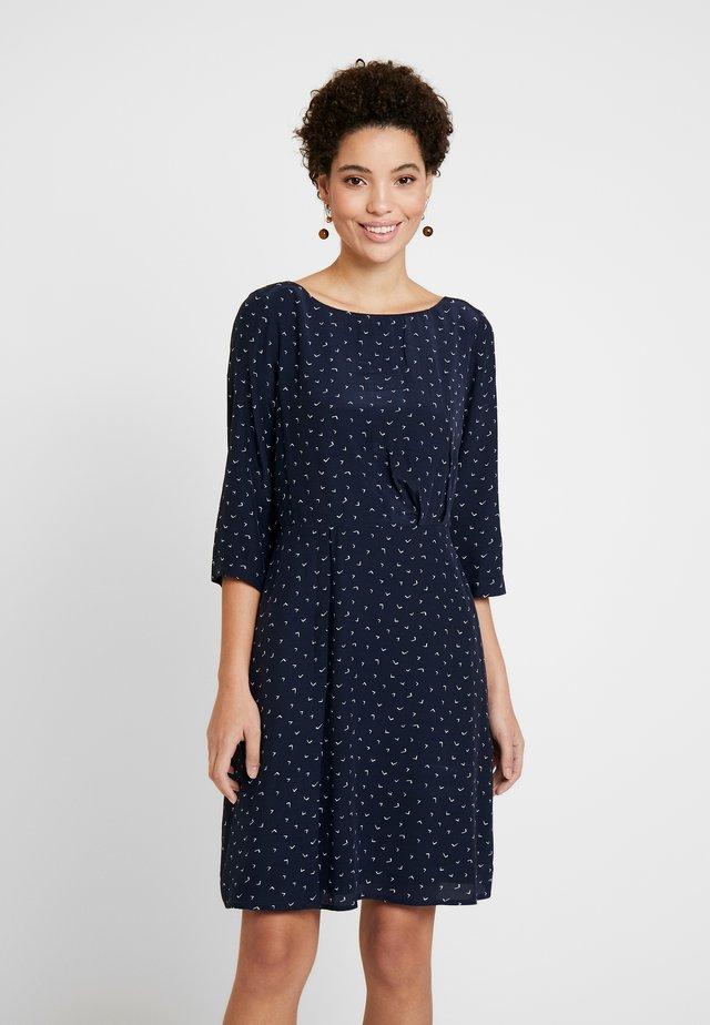 BOAT NECK DRESS - Day dress - navy multi color