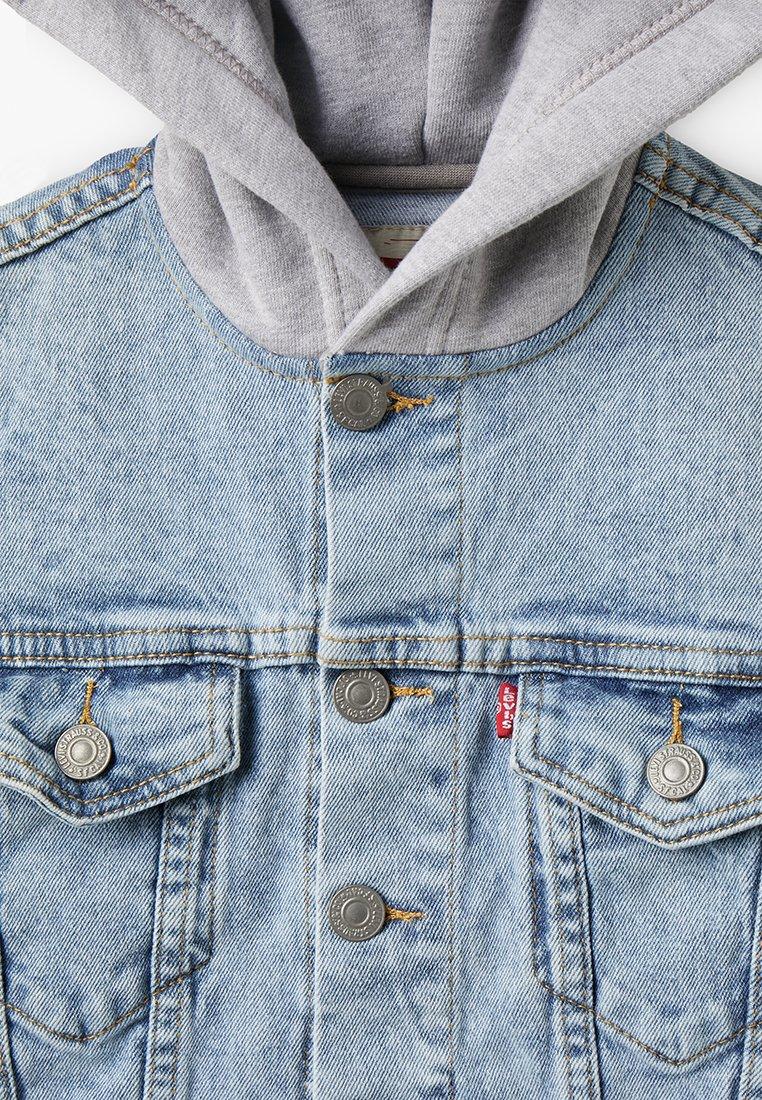 levis jacke grau blau mit gord kragen