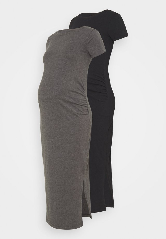 2 PACK - Jerseyklänning - black/dark grey