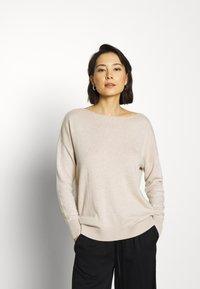 Selected Femme - SLFINKA  - Sweter - birch melange - 0