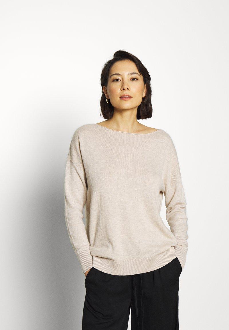 Selected Femme - SLFINKA  - Sweter - birch melange