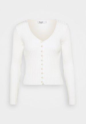 DETAILED CARDIGAN - Cardigan - off white
