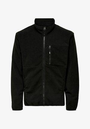 ONSDAVIS - Fleece jacket - black
