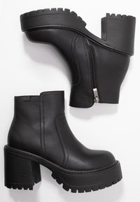 Coolway - BORNISE - High heeled ankle boots - black - 3