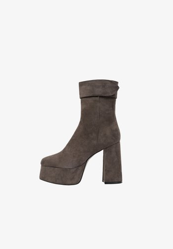 MICKEY - High heeled ankle boots - greyish brown