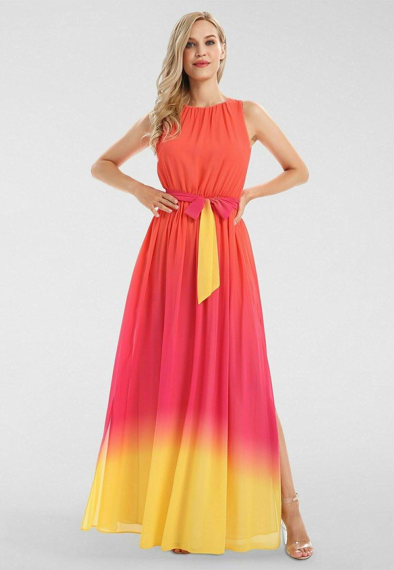 Apart - Robe longue - orangerot-pink-gelb