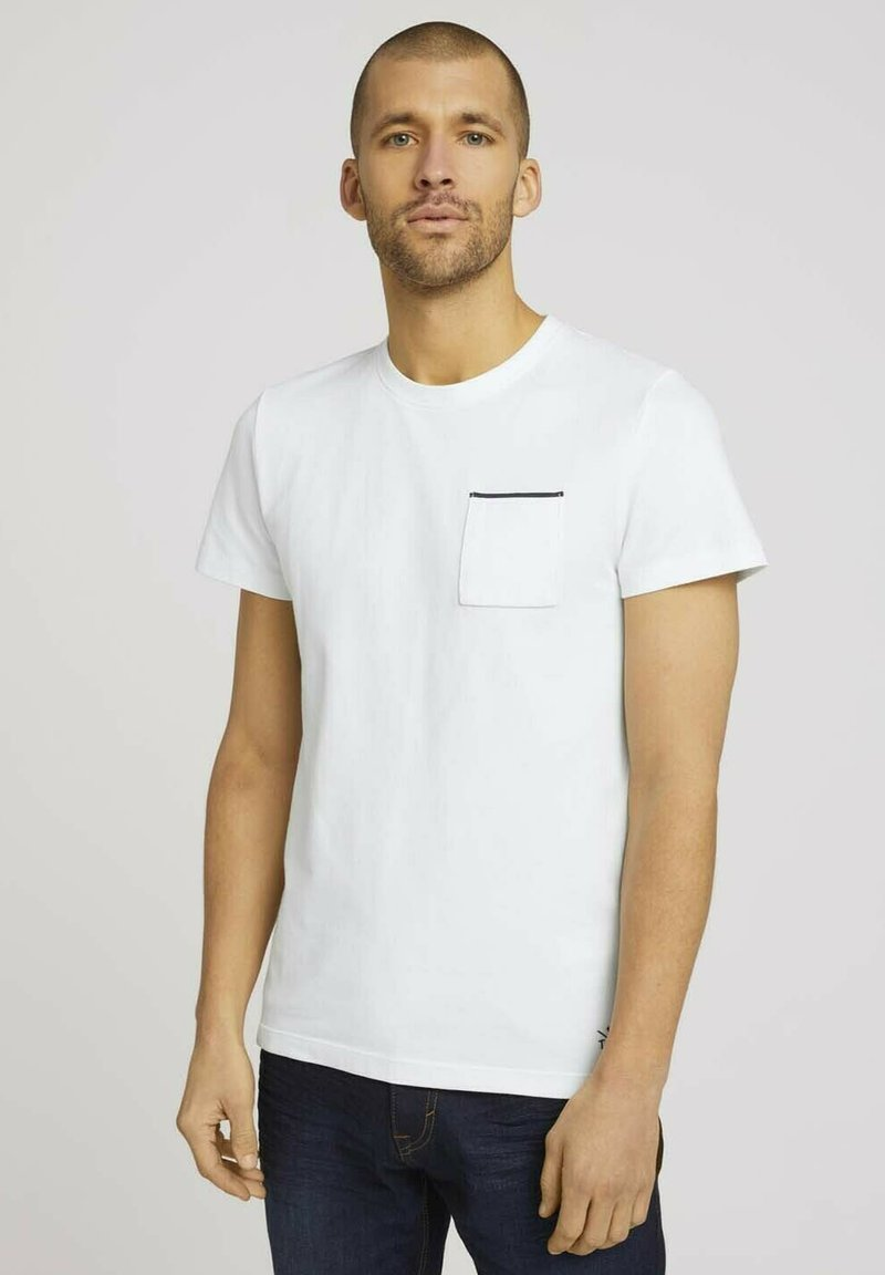 TOM TAILOR - Basic T-shirt - off white