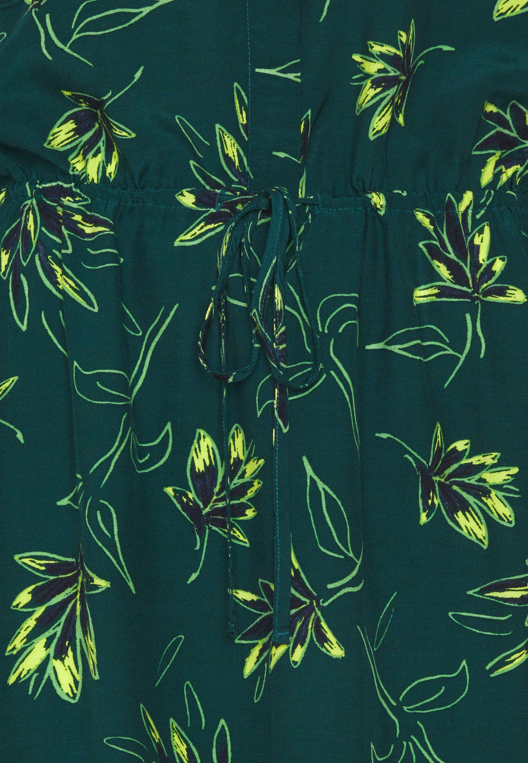 mine to five TOM TAILOR DRESS MIDI PRINTED Blusenkleid deep green/grün