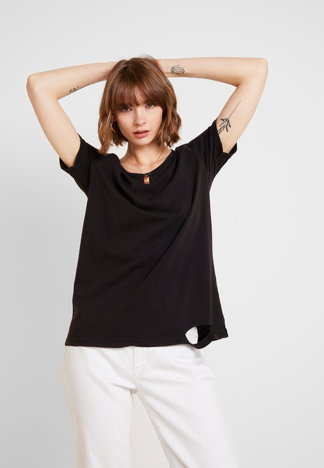 THE BLACK ALBUM BASIC TEE - Printtipaita - vintage black