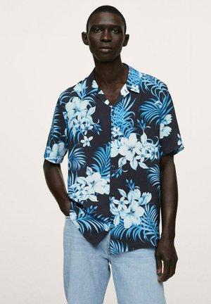 HAWAIIAN FLOWY - Shirt - dark navy