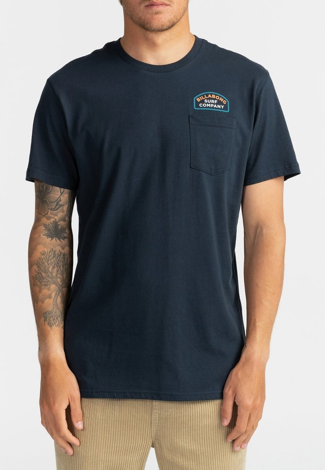 DOUBLE WARE - T-shirt print - navy