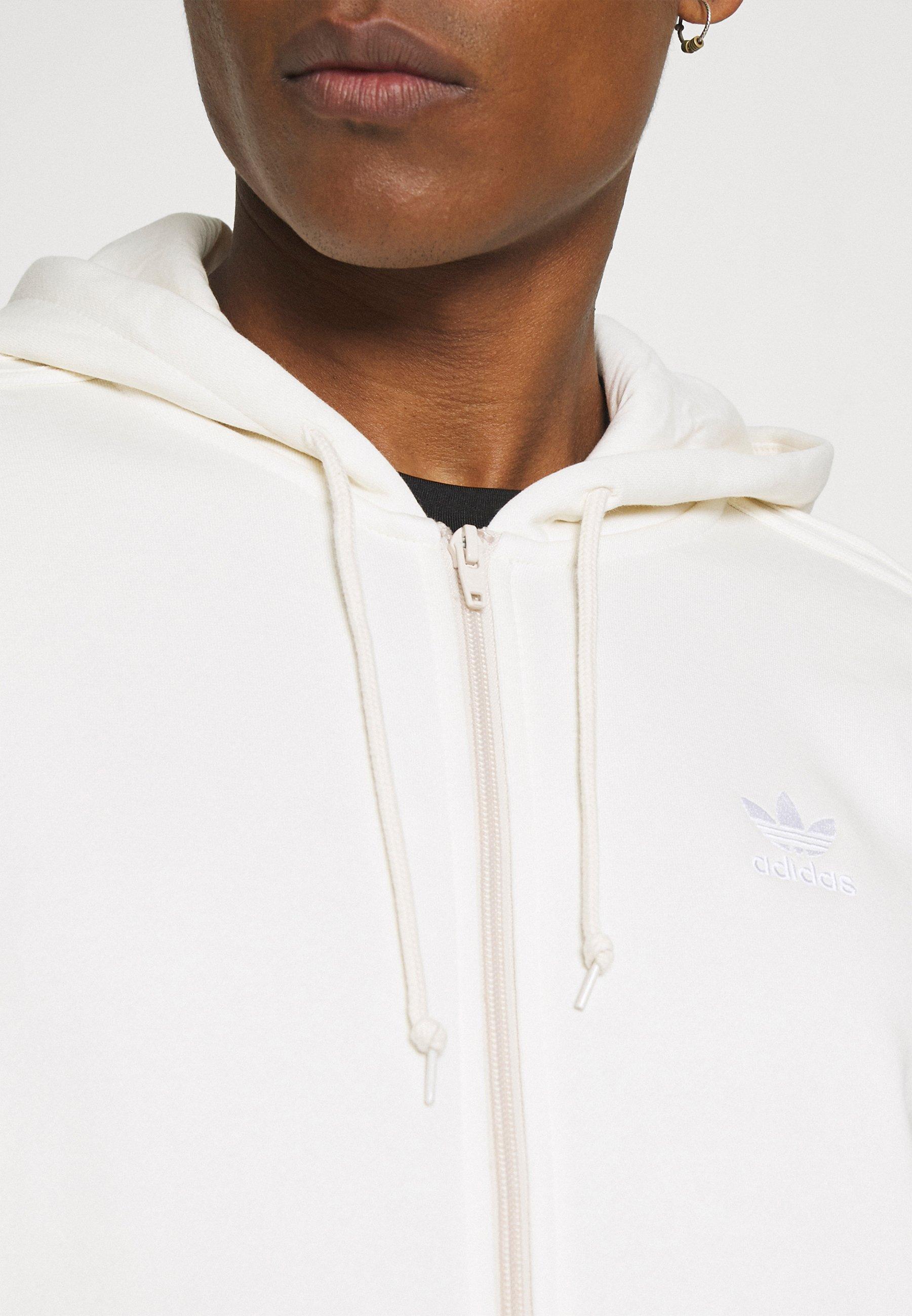 Women ADICOLOR 3-STRIPES FULL-ZIP NO-DYE HOODED TRACK TOP - Zip-up sweatshirt