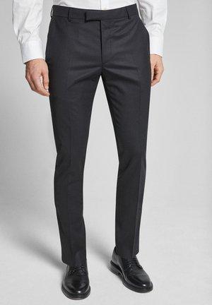 GUN - Suit trousers - black