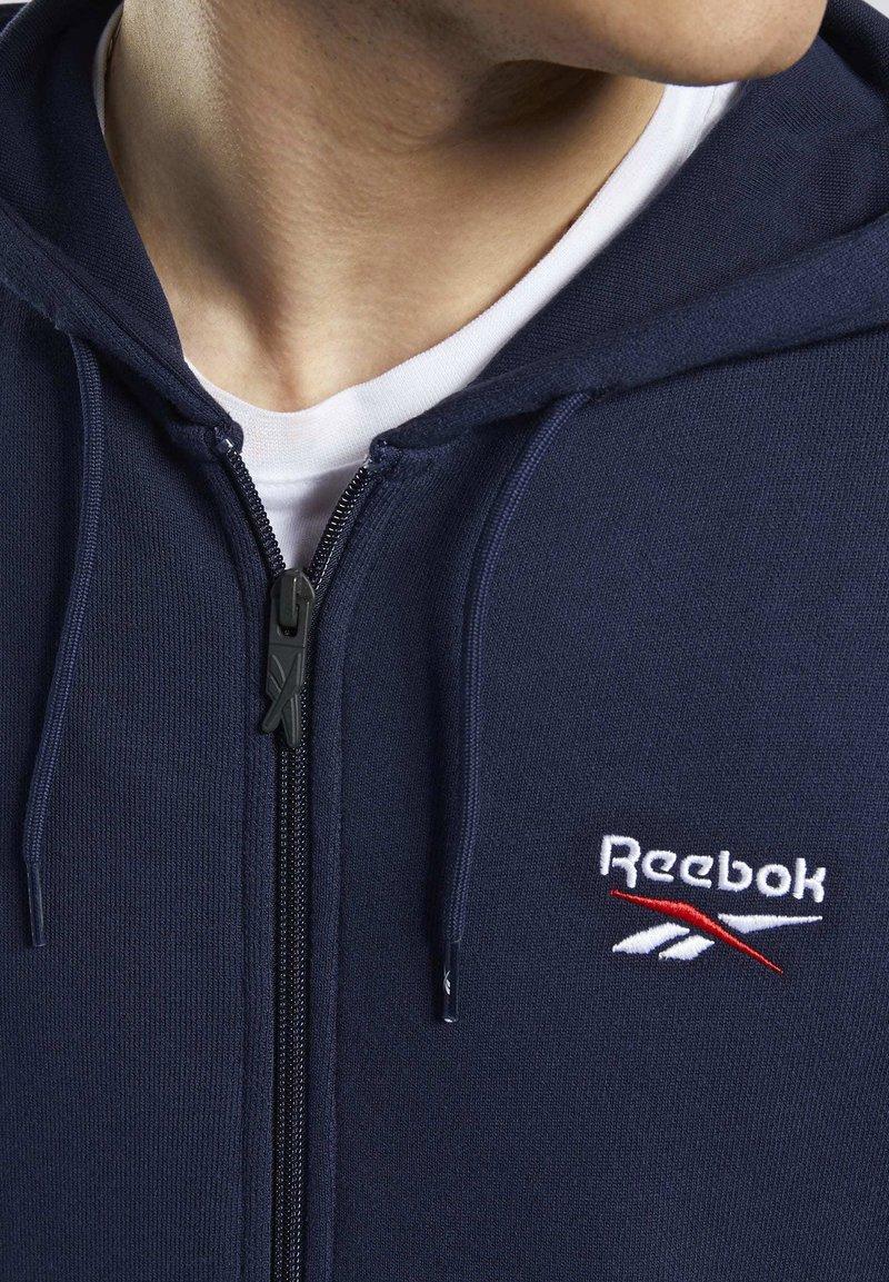 MEN/'S Reebok Classics Classics Fleece Full Zip Sweat à Capuche Veste En Bleu