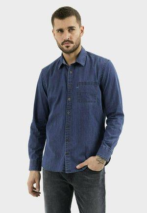 MIT KENT KRAGEN - Shirt - indigo
