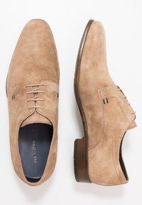 Pier One - Elegantní šněrovací boty - sand - 1