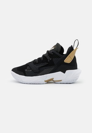 WHY NOT ZER0.4 BG UNISEX - Basketball shoes - black/white/metallic gold