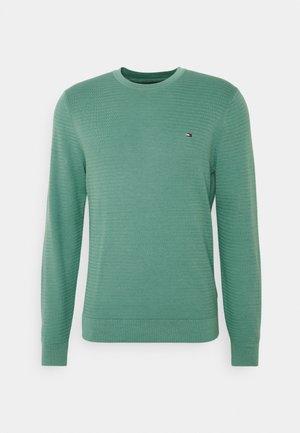 FINE ZIG ZAG STRUCTURE CREW NECK - Pullover - glazed green