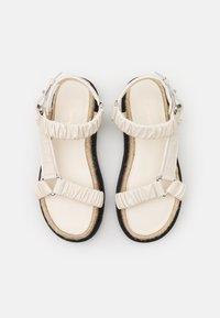 3.1 Phillip Lim - NOA STRAPPY PLATFORM SLIDE - Platform sandals - creme brulee - 3