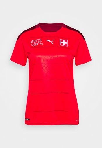 SCHWEIZ SFV HOME SHIRT REPLICA - National team wear - red/pomegranate