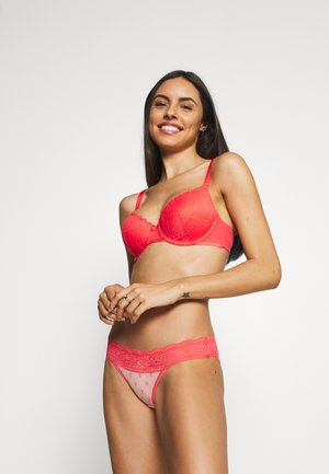 TEXTURE AND FULL CUP 2 PACK - Underwired bra - bright coral