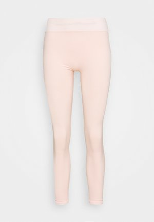 CONTRAST WAISTBAND SEAMLESS LEGGINGS - Leggings - pink