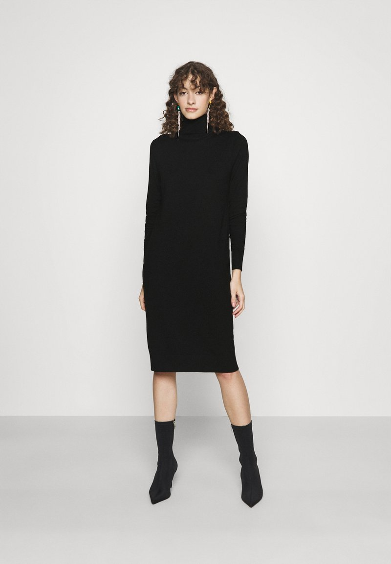Vila - VIJENEVE - Strikket kjole - black