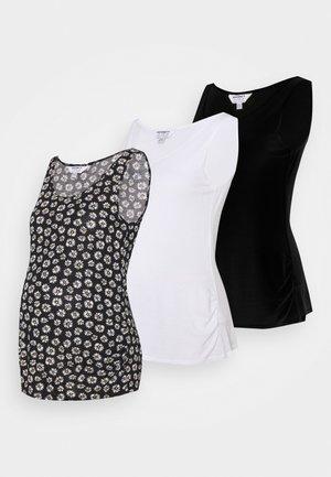 MATERNITY VEST 3 PACK - Toppi - black/white