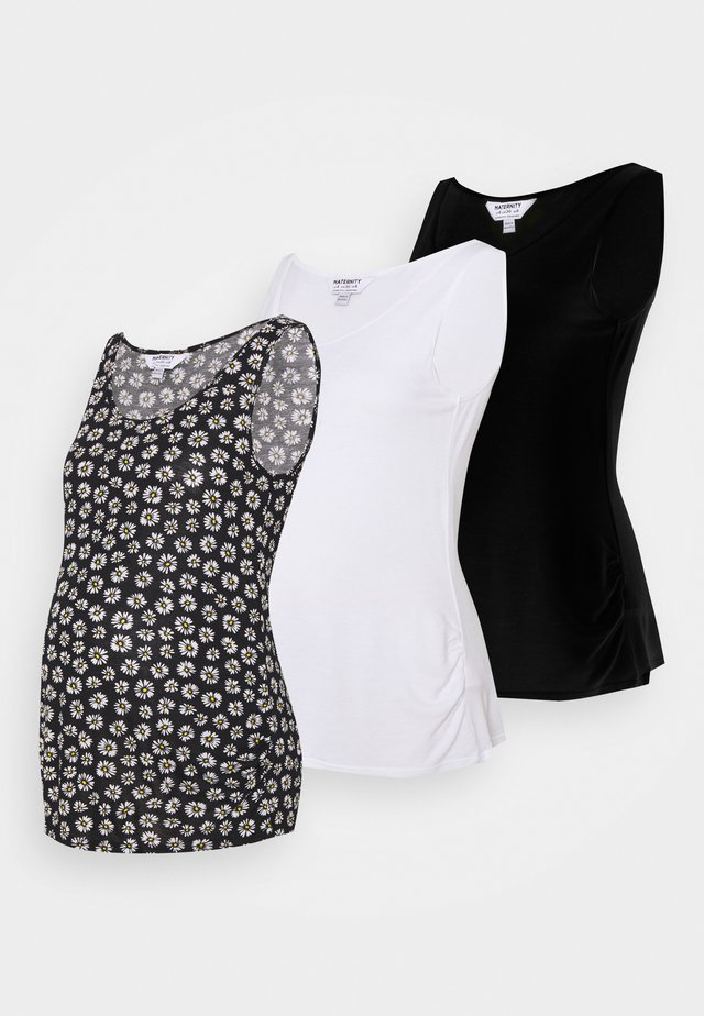 MATERNITY VEST 3 PACK - Top - black/white