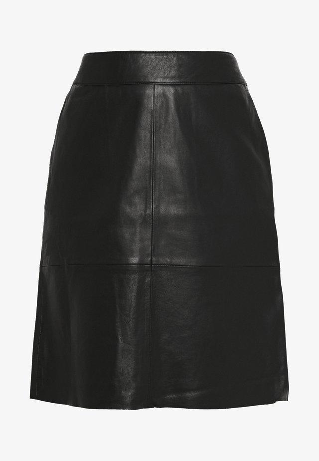 BERTA SKIRT - Spódnica trapezowa - black