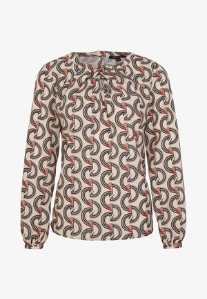Blouse - sand graphic waves