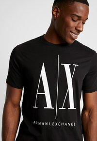 Armani Exchange - T-shirt print - black - 3