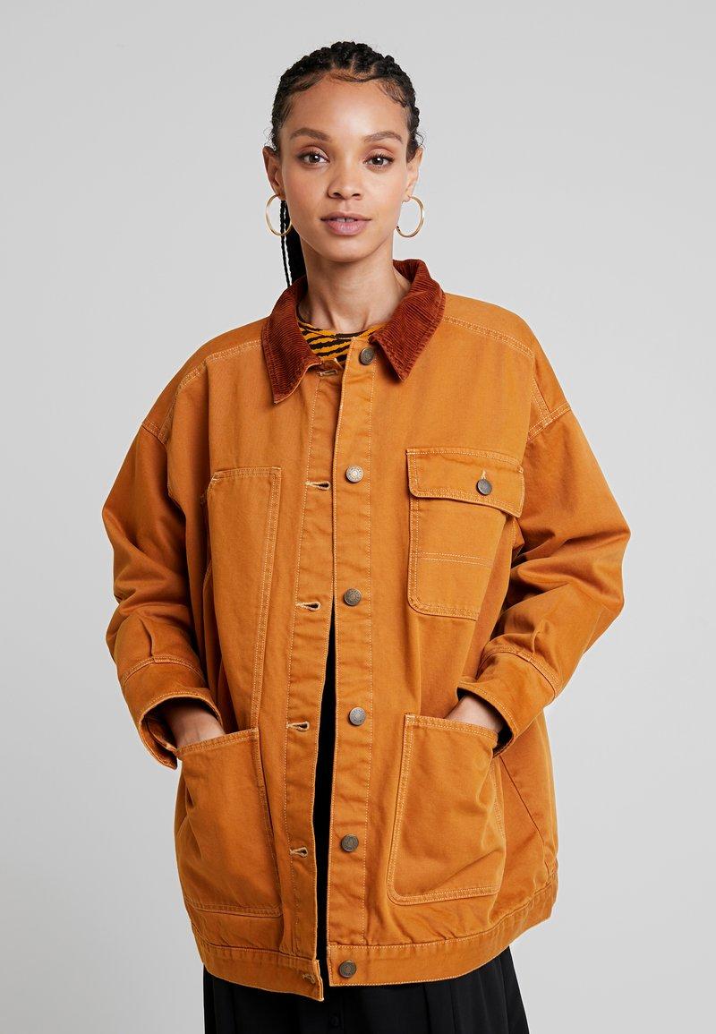 Monki - SARAH JACKET - Short coat - tobacco/dark brown