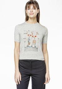 Rosa & Me - POLLY - Print T-shirt - grey - 0