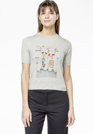POLLY - Print T-shirt - grey
