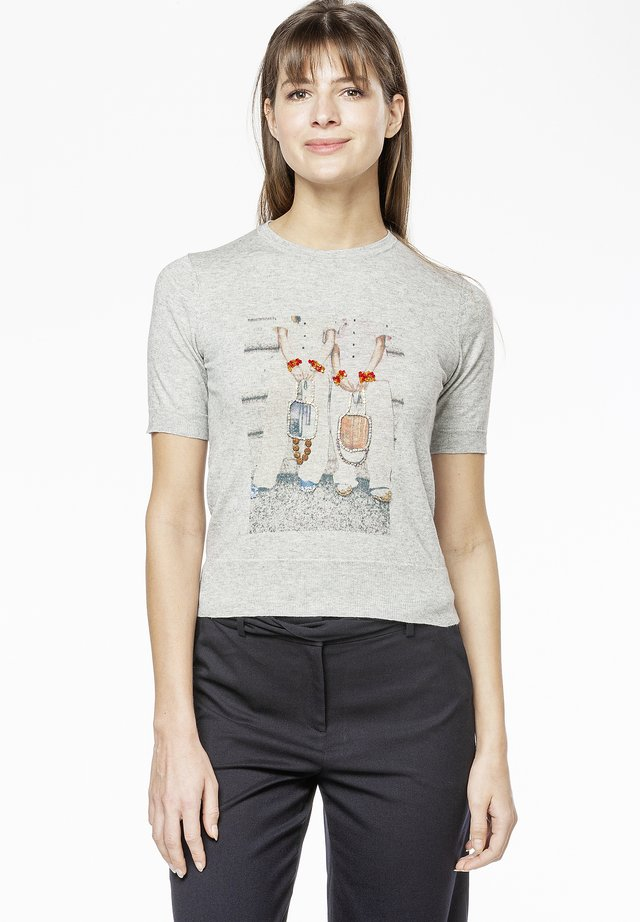 POLLY - Print T-shirt - grey